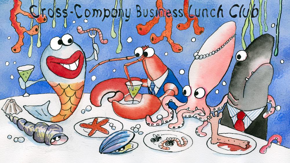 cross company business lunch club de hopkins